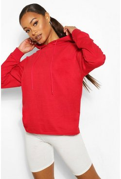 Red Basic Oversized Hoodie