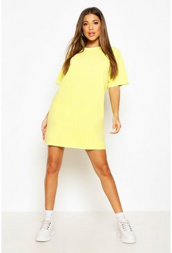 Lime Back Tonal Print T-Shirt Dress