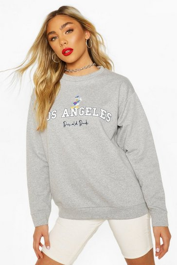 Grey Disney Donald Duck Los Angeles Sweater