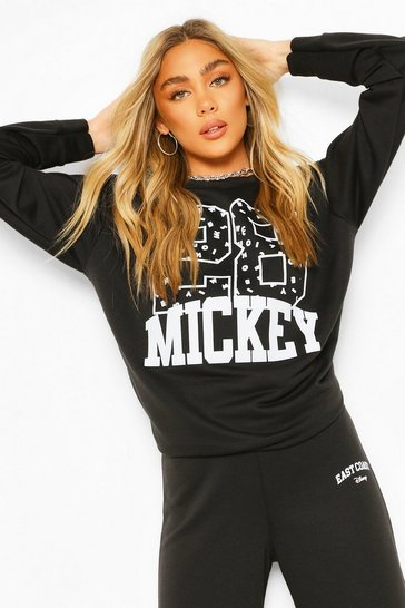 Black Disney Mickey Collegiate Sweater