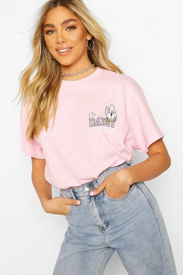 Pink Disney Daisy Duck Pocket Print T-Shirt