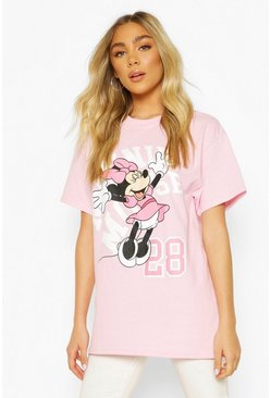 Pink Disney Minnie Mouse Printed T-Shirt