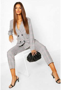 Pink Check Tailored Tapered Trouser