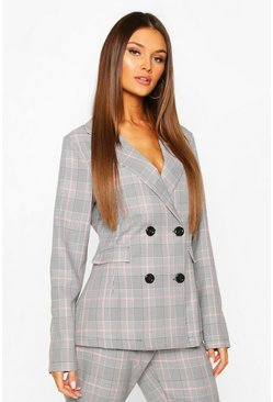 Pink Check Tailored Blazer