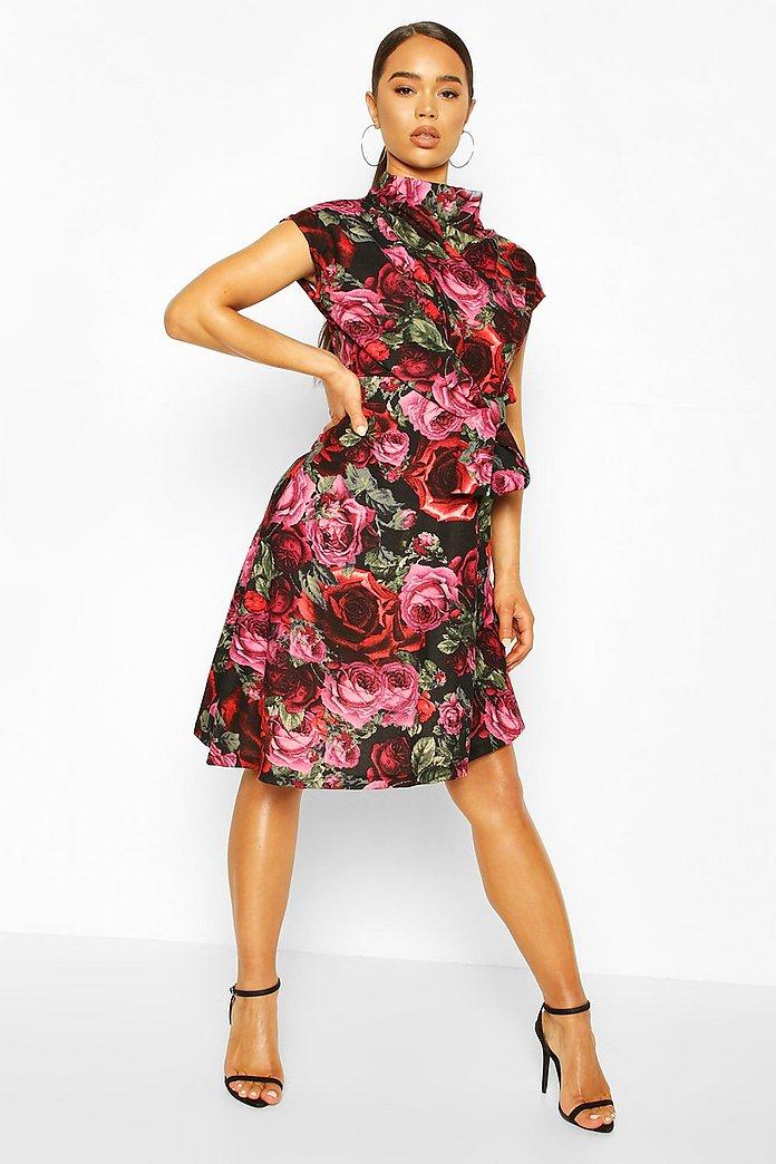 Rose Print | Pretty dresses, Fashion, Dresses