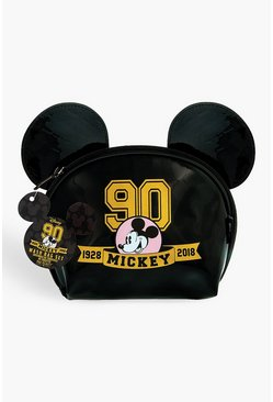 Black Disney Mickey's 90th Makeup Bag
