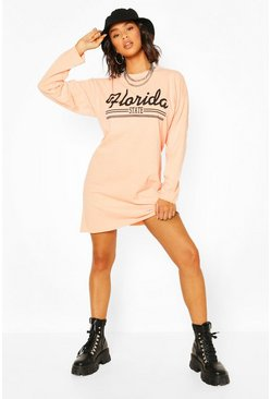 Apricot Florida State Long Sleeve T-shirt Dress
