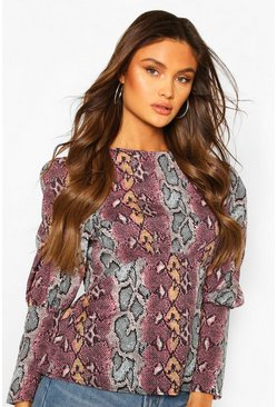 Snake Long Sleeve Empire Line Top