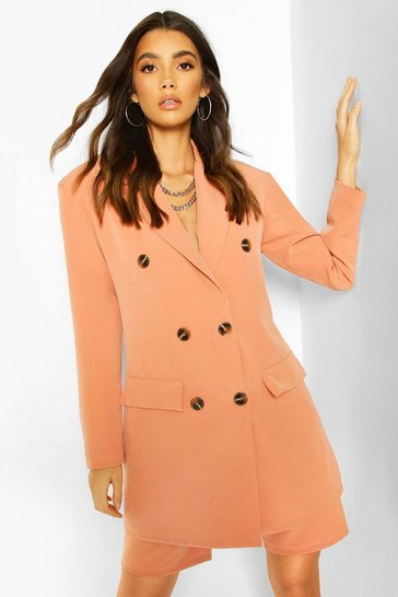 Coral Oversized Dad Blazer