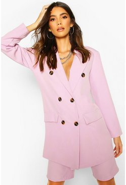 Lilac Oversized Dad Blazer