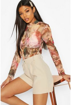 Rose Renaissance Print High Neck Body