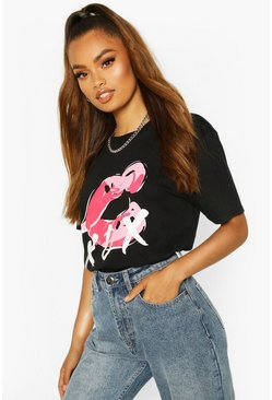 Lips XOX Slogan T-Shirt , Black