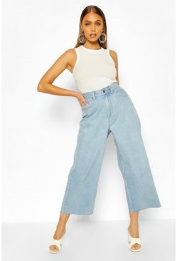 Light blue High Rise Wide Leg Jeans