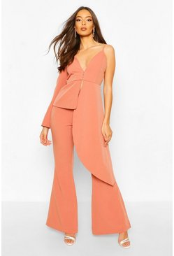 Apricot Boohoo Occasion Tailored Flare Trouser