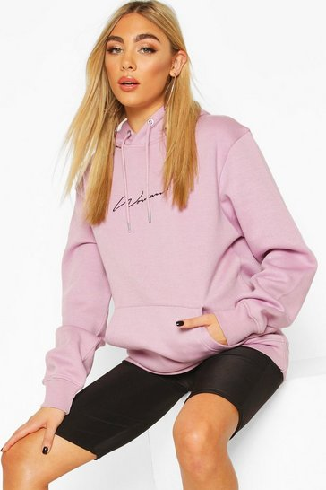 Lilac Woman Signature Oversized Hoodie