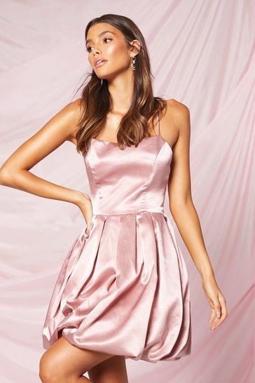 Blush Occasion Satin Extreme Puff Mini Dress