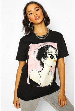 Black Face Graphic T-Shirt