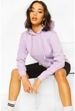 Lilac Basic Pocket Detail Hoody