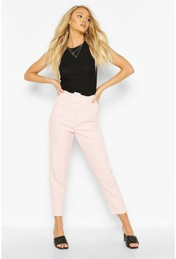 Blush Belted Mix & Match Tapered Trousers