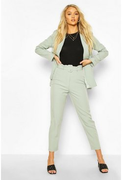 Sage Belted Mix & Match Tapered Trousers