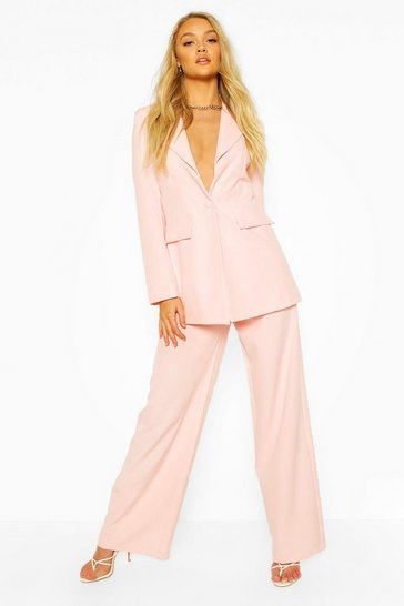 Blush Tailored Mix & Match Wide Leg Trouser