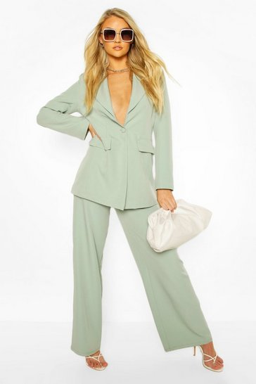 Sage Tailored Mix & Match Wide Leg Trouser