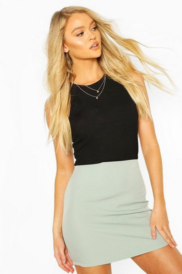 Sage Tailored Mix & Match Mini Skirt