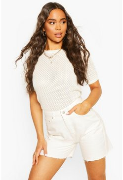 Ivory Lace Knit Jumper
