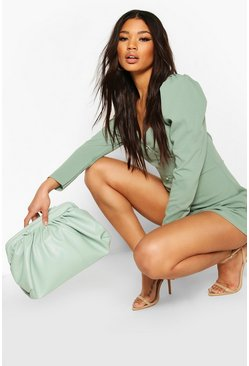 Mint Corset Detail Peasant Neck Playsuit