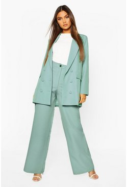 Wide Leg Tailored Trouser, Mint