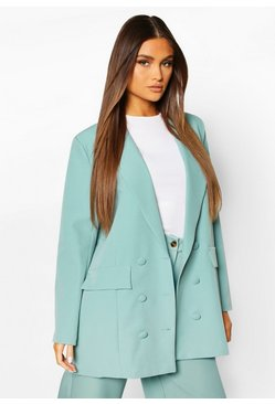 Mint Double Breasted Oversized Blazer