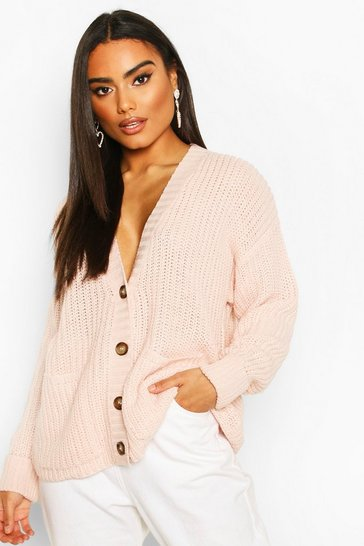 Nude Fisherman Knit Button Through Cardigan