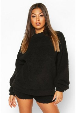 Black Borg Oversized Sweatshirt