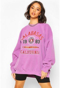 Rose Calabasas Washed Oversized Sweat
