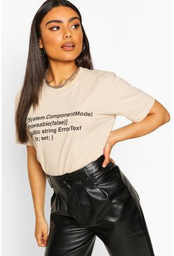 Sand Oversized Woman Print T-Shirt
