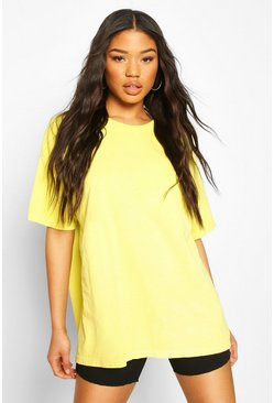 Lime Neon Washed Oversized T-Shirt