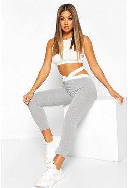 Grey Strapping Legging