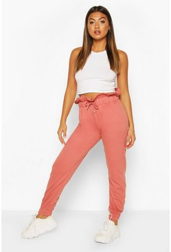 Terracotta Paperbag Waist Loopback Jogger