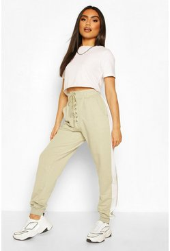 Sage Lace Up Front Loopback Jogger