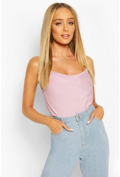 Lilac Cowl Neck Cross Back Cami Top