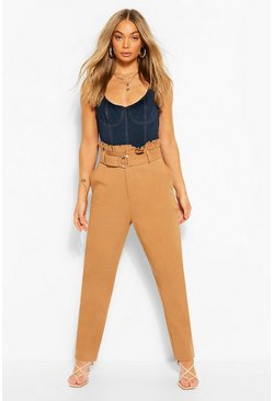 Spice Denim D-Ring Belted Trouser