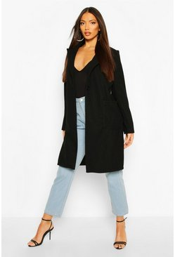 Black Maxi Wool Look Coat