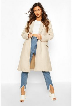Stone Tailored Wool Look Coat