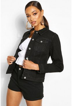 Denim Western Jacket, Black