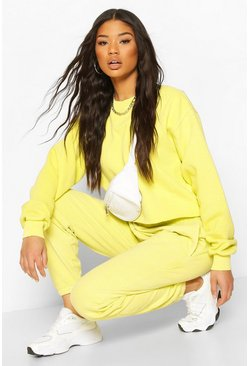 Lime Neon Oversized Crop Sweat