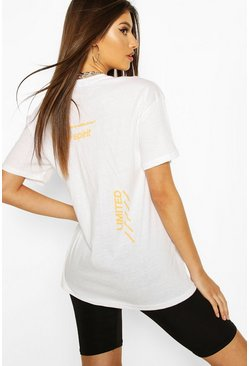 White Women Limited Chevron Print T-Shirt