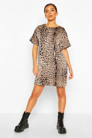 Black Woven Leopard Shift Dress