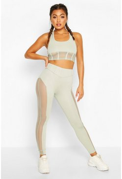 Fit Contour Waist Gym Legging, Sage