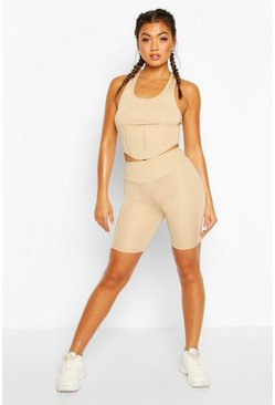 Fit Contour Stitch Cycling Shorts , Nude