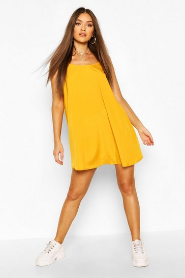 Mustard Cami Strap Swing Dress